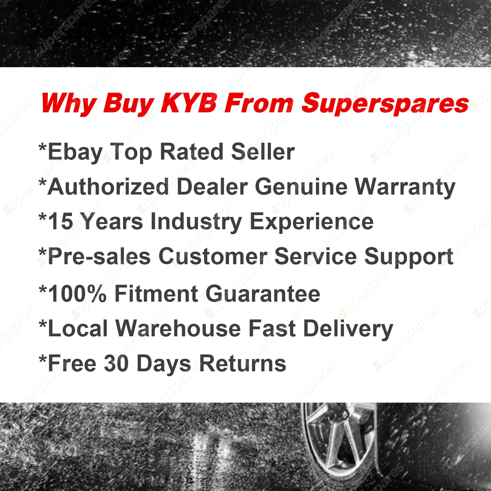 Toyota Care Extended Warranty: 2 X Front KYB EXCEL-G Strut Shock Absorbers For TOYOTA
