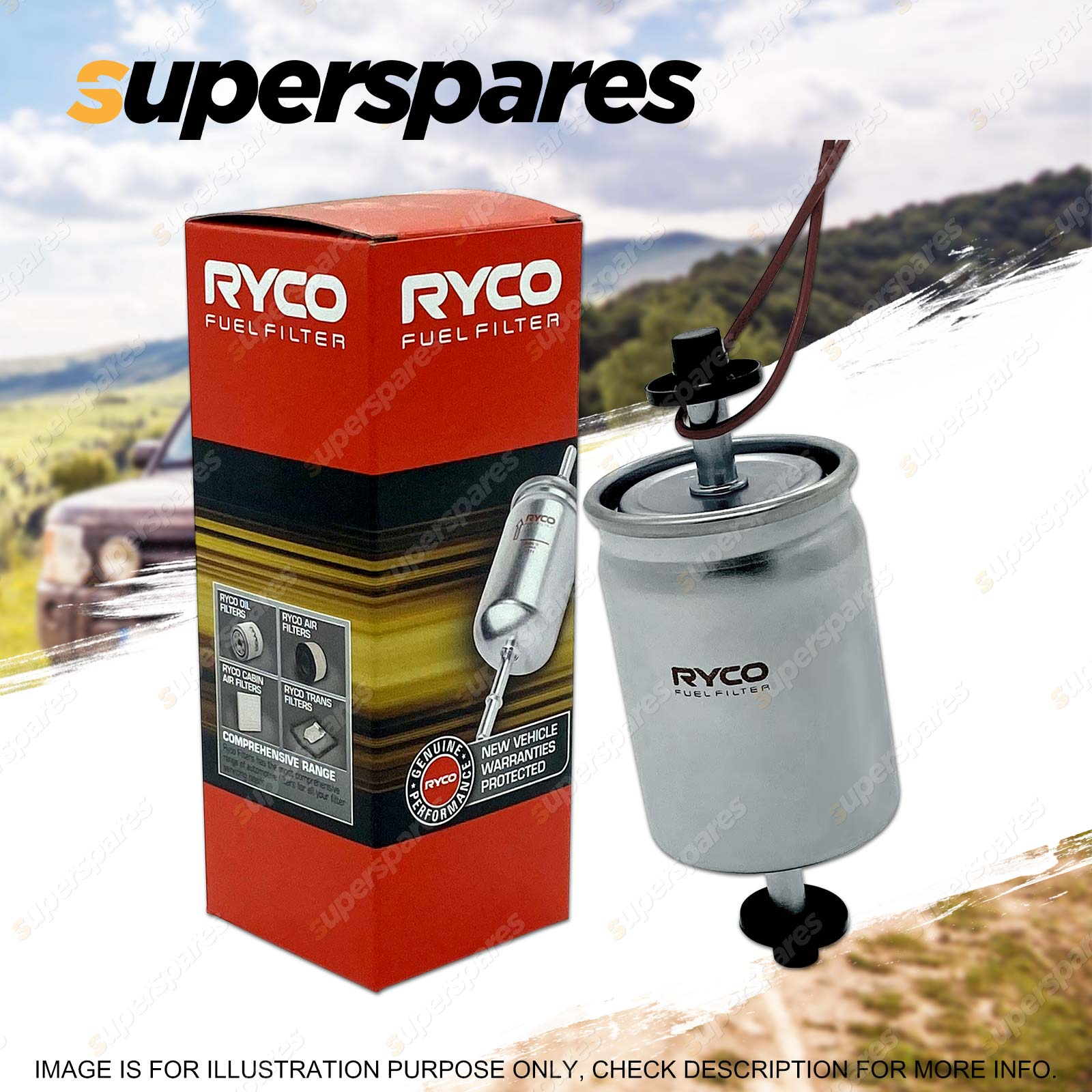 Ryco Fuel Filter For Toyota Yaris Ncp90r Ncp91r Ncp93r Petrol Incl Mercedes Benz 1998 C4 3 Sku