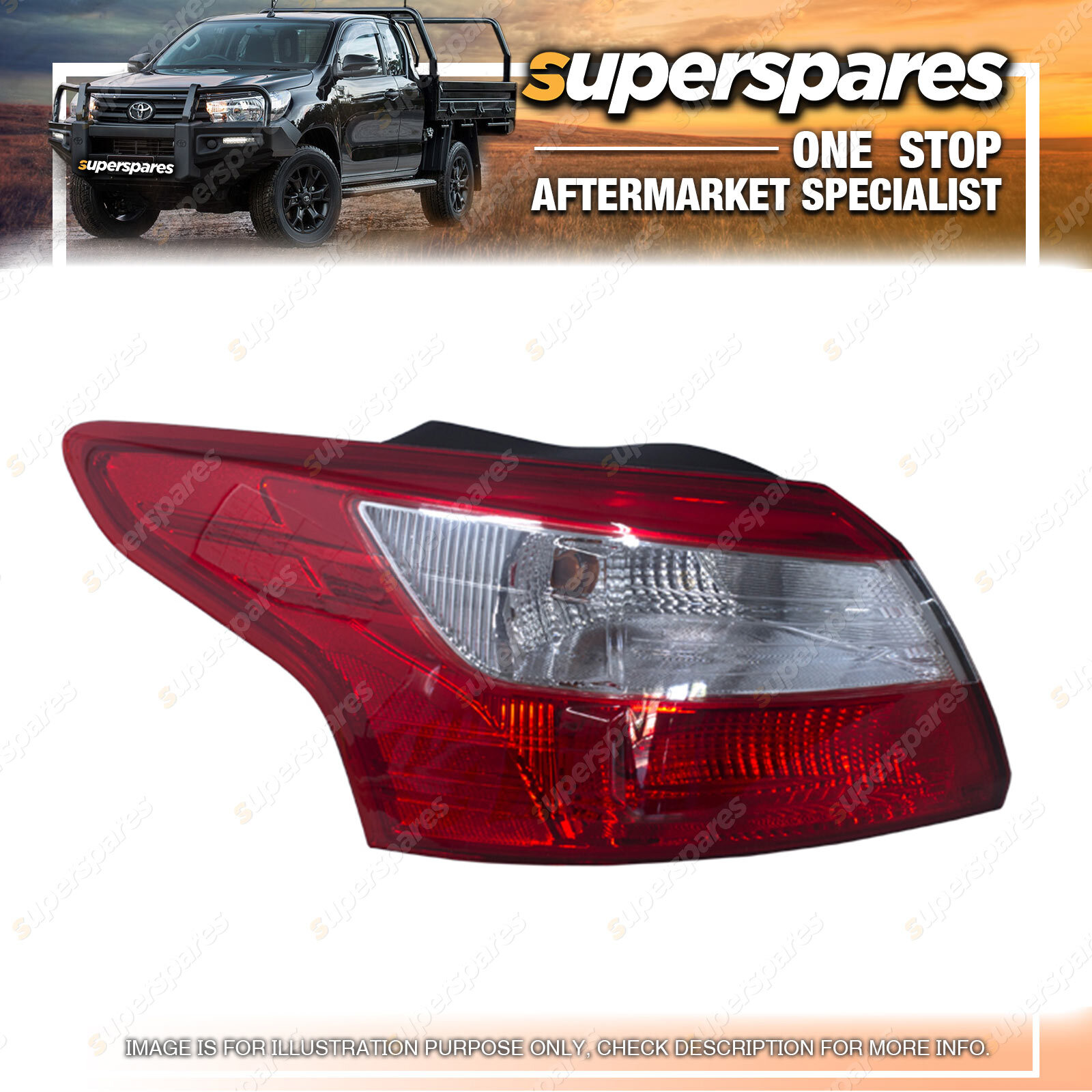 Superspares Left Outer Tail Light For Ford Focus Lwsedan 04  2011 2014