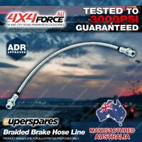 1 Front Braided L/R Brake Hose Line For Toyota Hilux RZN 169 174 VZN 167 172