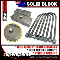 "3"" 75mm Solid Lowering Blocks kit for Chevrolet 57 & 210 WITH 13MM"