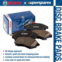 4 x Front Bosch Disc Brake Pads for Toyota Rav 4 ACA20 ACA21 2.0 2.4 AWD