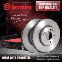 2x Rear Brembo UV Coated Disc Rotors for Land Rover Range Rover II P38A L322