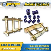 Extended Greasable Shackles & Superpro Bushings kit for Holden Colorado RG 12-on