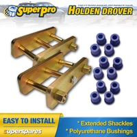 Extended Greasable Shackles & Superpro Bushings kit For Holden Drover QB 85-87