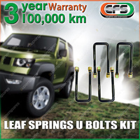 4PCS Front EFS Leaf Spring U Bolt Kit For TOYOTA LANDCRUISER FJ HJ 75 Series CAB 85-92