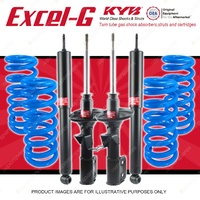 4 KYB EXCEL-G Shocks Raised Coil Springs For HOLDEN Commodore VR VS Beam Rear V8