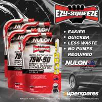 4 x 1L Nulon EZY-SQUEEZE Semi Synthetic SS75W90 Manual Gearbox Transaxle Oil