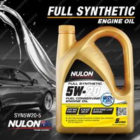 Nulon Full Synthetic 5W-20 Fuel Conserving Engine Oil 5L SYN5W20-5