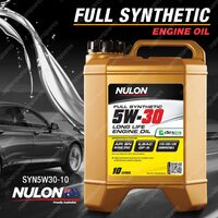 Nulon Full Synthetic 5W-30 Long Life Engine Oil 10L SYN5W30-10 10 Litres