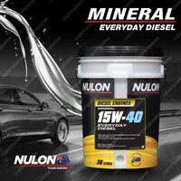 Nulon Mineral 15W-40 Everyday Diesel Engine Oil 20L ED15W40-20 20 Litres