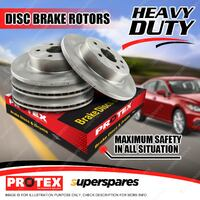Protex Front + Rear Disc Brake Rotors for Ford Falcon Fairmont EB ED LTD DC