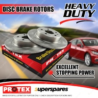 Pair Front Protex Disc Brake Rotors For Mercedes Benz A140 W168 00-01