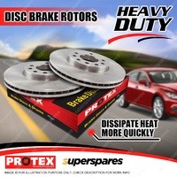 2 Front Protex Vented Disc Brake Rotors For Mazda 323 BJ Astina Series III 98-on
