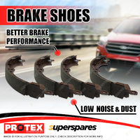 Protex Rear Brake Shoes Set For Nissan Navara 2WD 4WD D40 2005-on