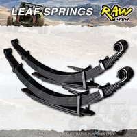 Front RAW 4x4 2 Inch Leaf Springs For Toyota Landcruiser FJ60 62 HJ60 61 Diesel