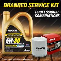 Ryco Oil Filter 5L 5W30 Engine Oil Service Kit For Subaru Forester Outback