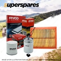 Ryco Oil Air Fuel Filter Service Kit For Audi A4 B7 03/2005-03/2008