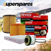 Ryco 4WD Filter Service Kit for Ford Ranger PX Mazda BT-50 UPOY Turbo Diesel