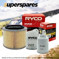 Ryco 4WD Air Oil Fuel Filter Service Kit for Nissan Patrol GU IV TD42T