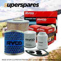 Ryco 4WD Filter Service Kit for Toyota Landcruiser HZJ78 HZJ79 1HZ