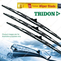 Tridon Wiper Complete Blade Set For Mitsubishi Pajero NT NW 01/09-12/12