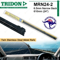 2x Tridon Metal Rail Wiper Refill For Toyota Landcruiser Prado 95 Series 96-03