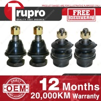 4 Trupro Lower+upper Ball Joints NISSAN NAVARA 4WD D40M Ser chassis VSK 05-06