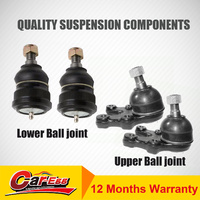 4 Lower + Upper Ball Joints for Mitsubishi TRITON 4WD ML 07/2006-05/2009