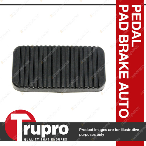 1 x Trupro Pedal Pad - Brake Auto For Holden Zafira TT 4cyl 2.2L 6/01-3/06
